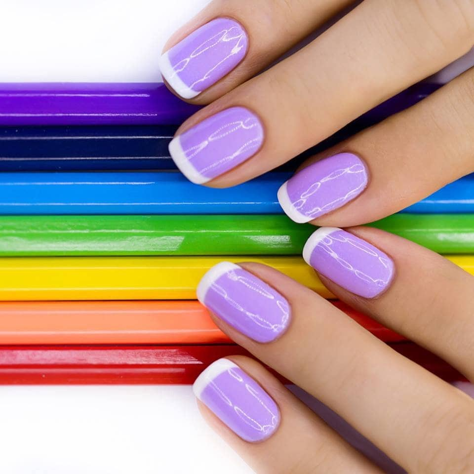 Фото окраска гель лаком ногтей