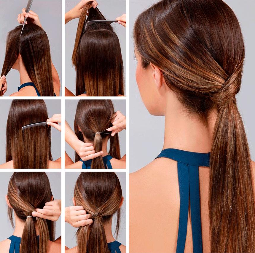 Легкие прически хвостики на длинные волосы