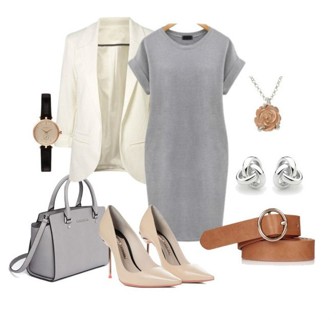 Элегантное серое платье: 20 образов