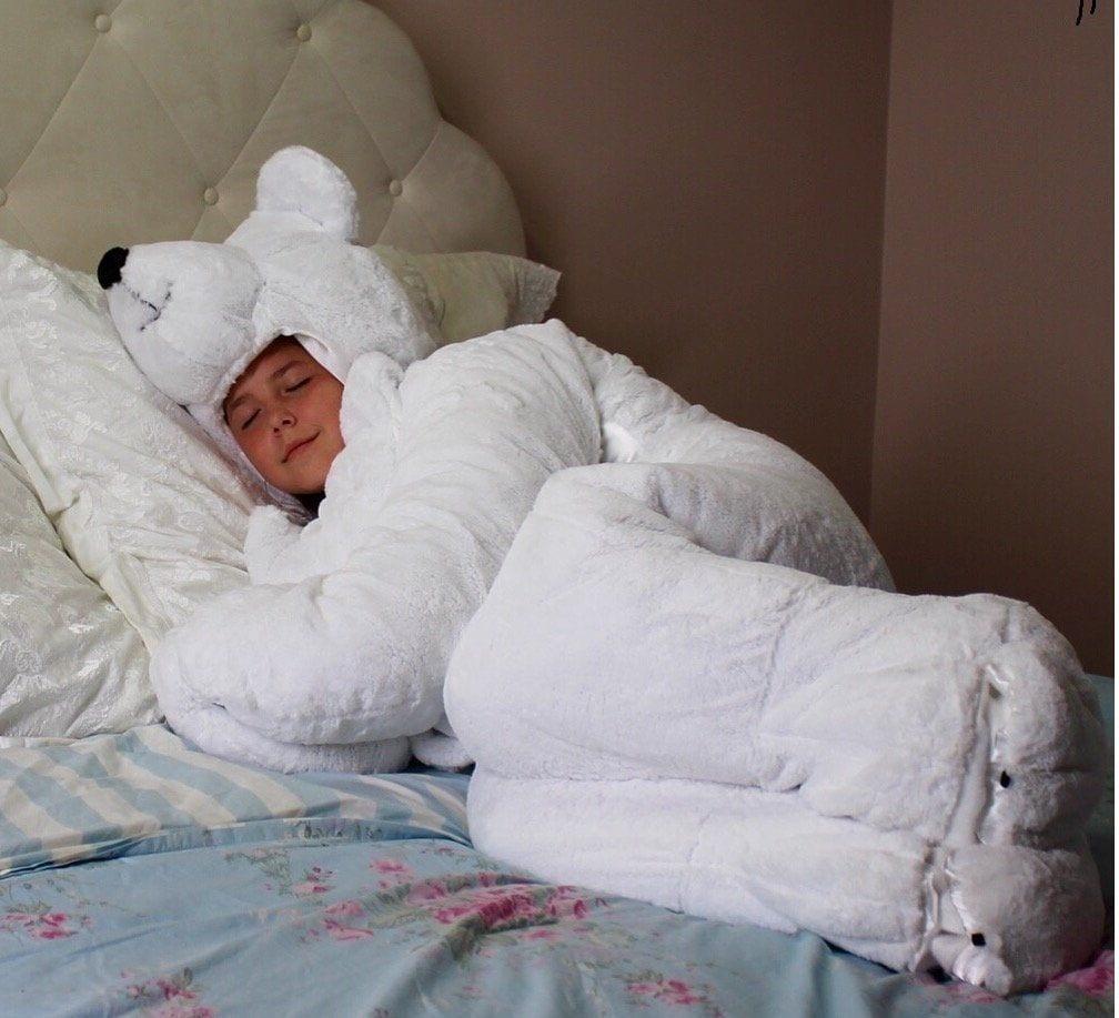 белый медведь спальный мешок