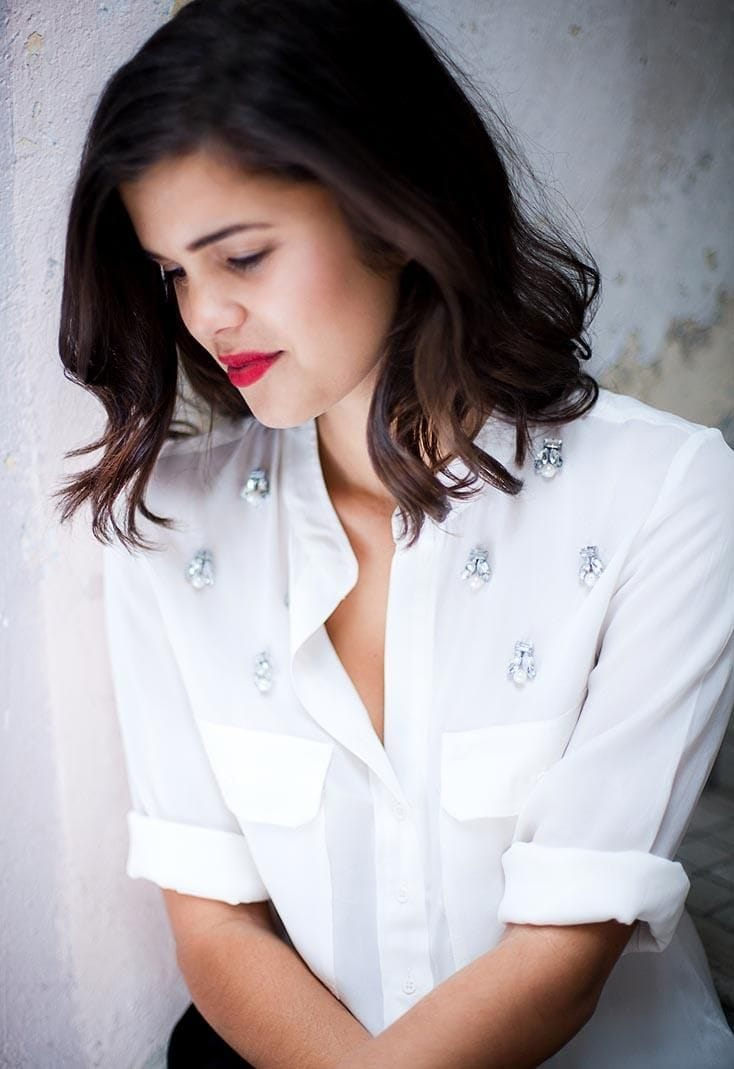 украшение блузки биссером