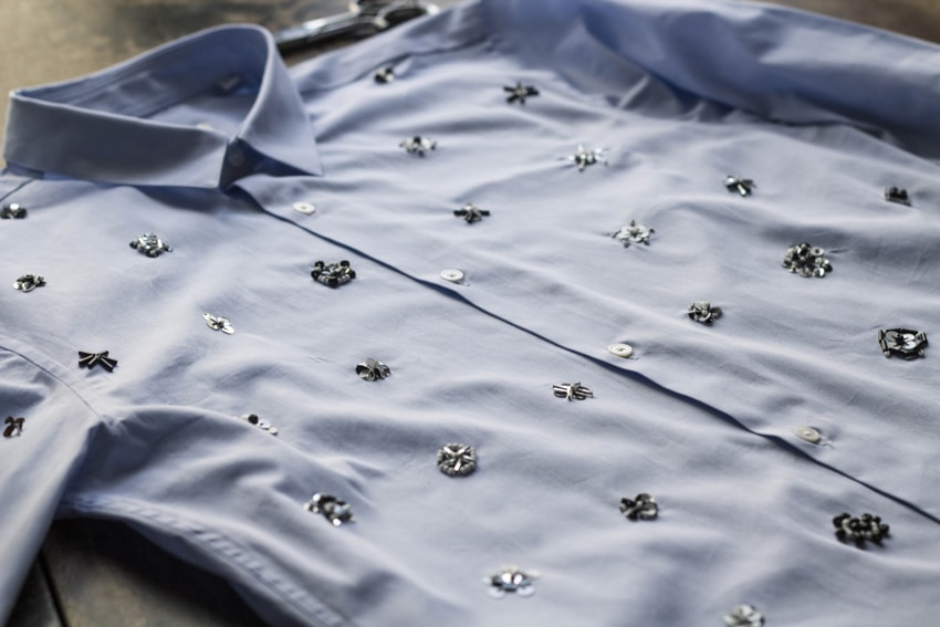 рубашка с вышивкой из бисера