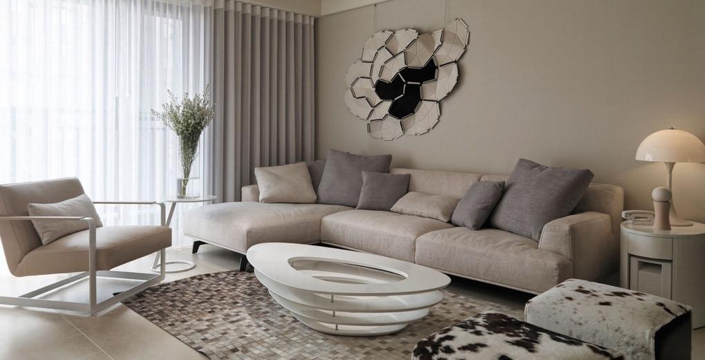идеи для гостиной нейтральные цвета