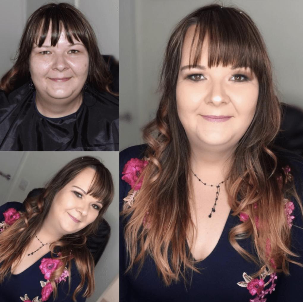 преображение после макияжа