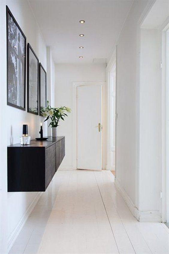 интерьер коридора в белом цвете