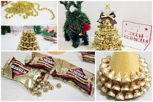 елка из шоколадных конфет