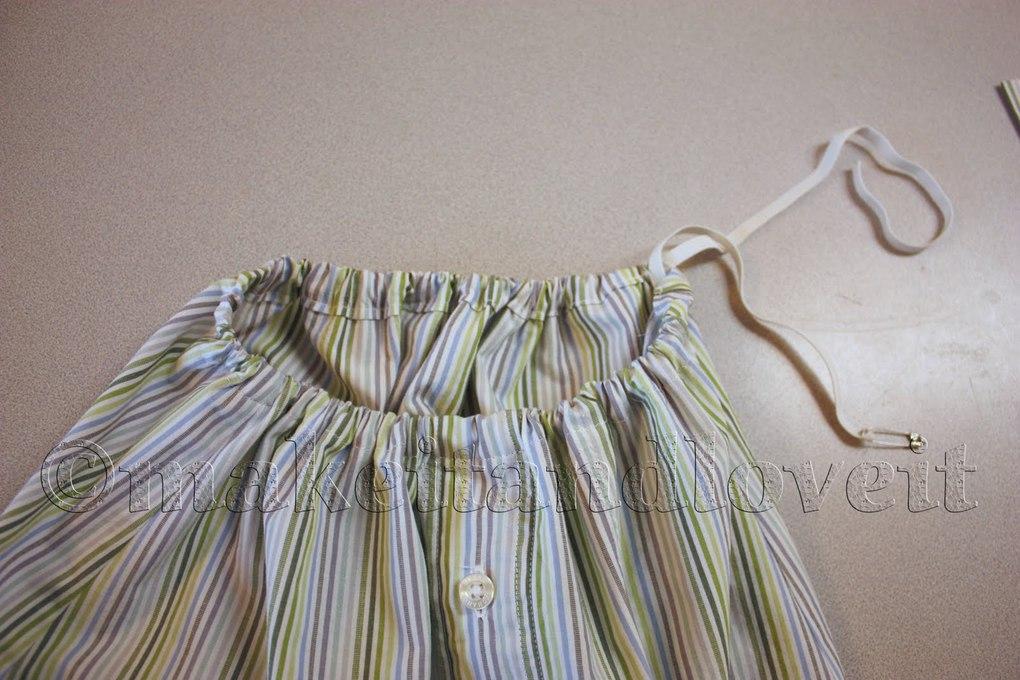 Как сшить юбку из рубашки 99