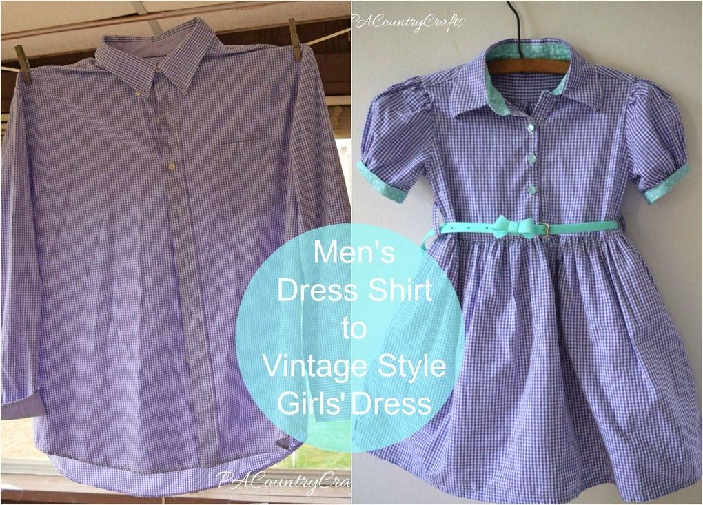 Детское платье из мужской рубашки 72