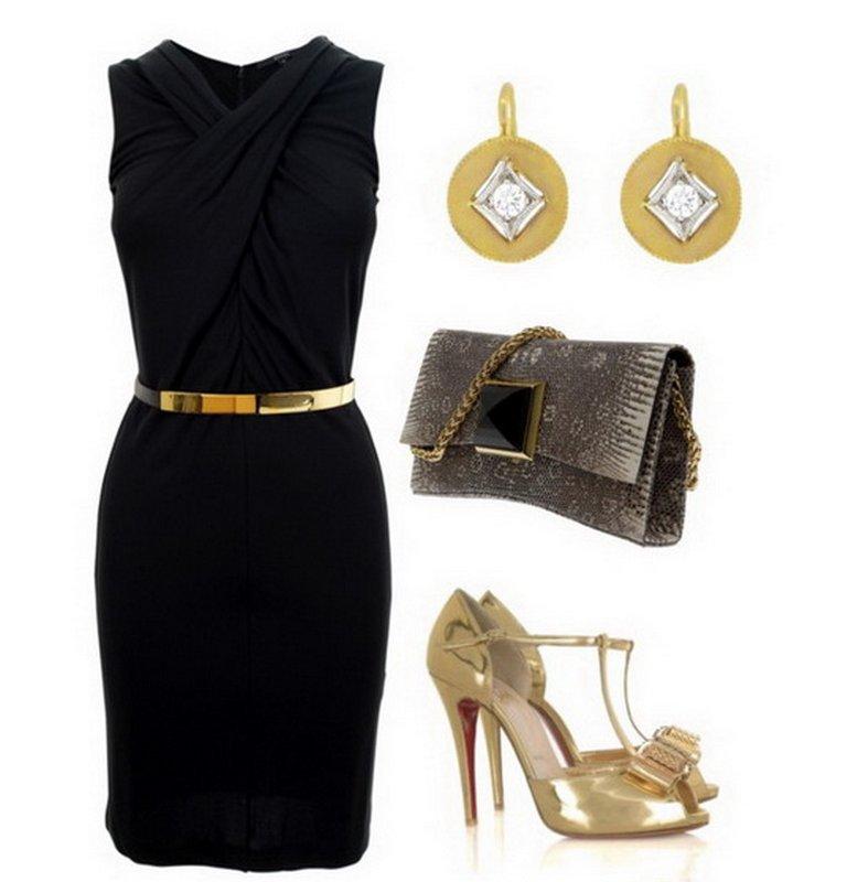 Черное Платье С Какими Цветами Сочетается