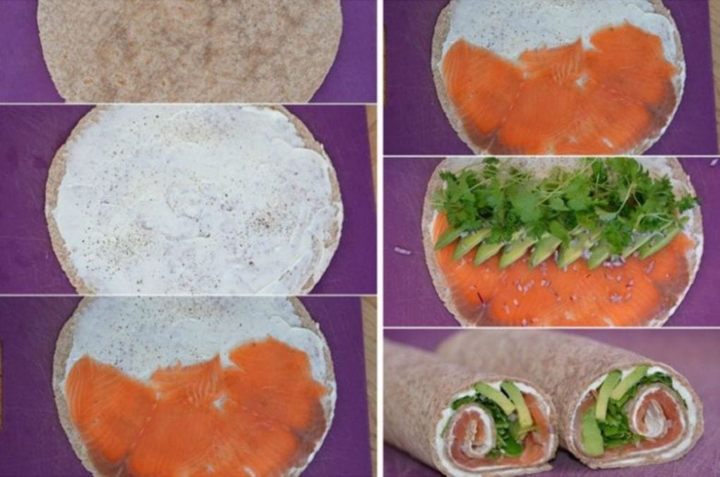 лаваш с копченым лососем
