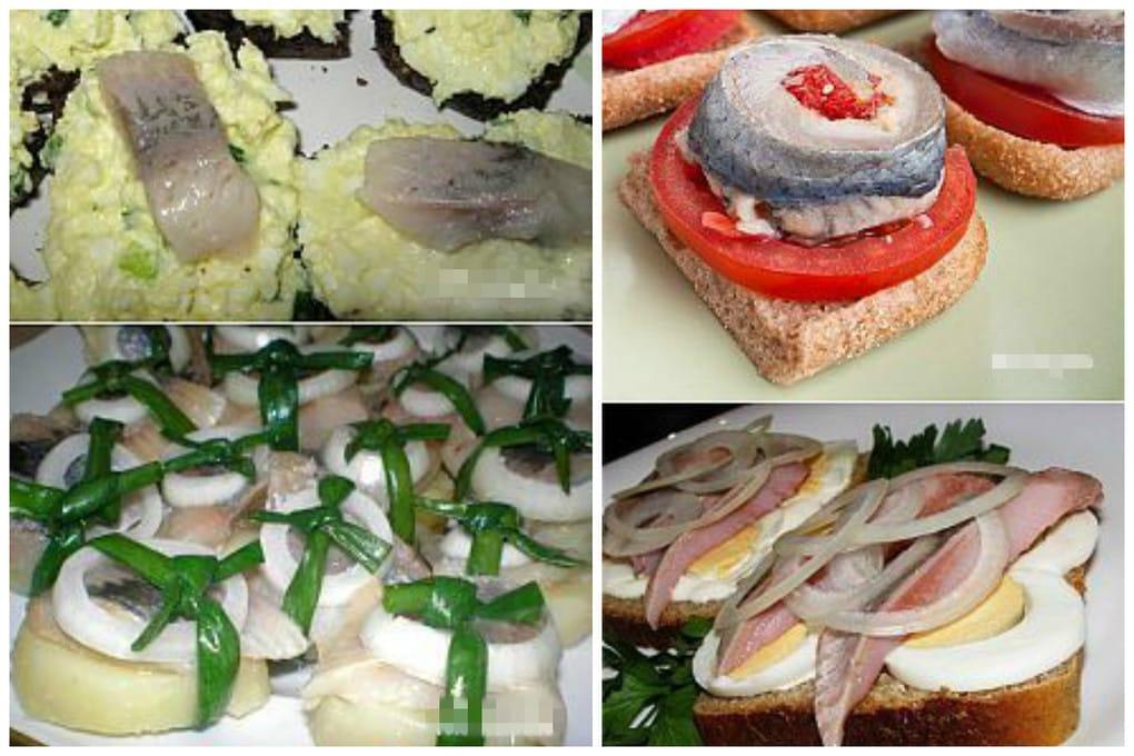 вкусные бутерброды с селедкой