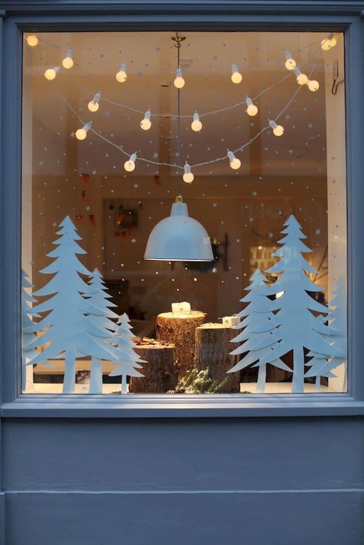 сделать рождественскую витрину