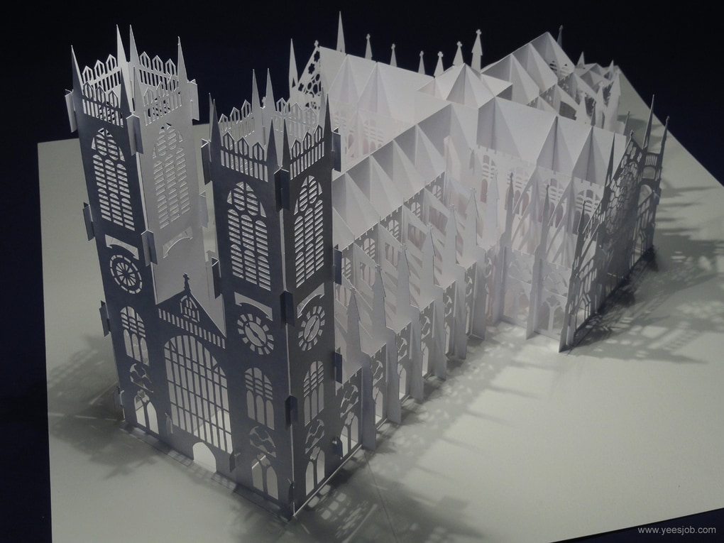 бумажная модель вестминстерского аббатства