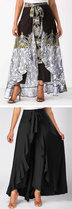 Выкройку юбки с тремя воланами 163