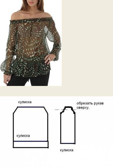 d8d5bbaf20f Существует огромное множество выкроек туник — с рукавами-кимоно