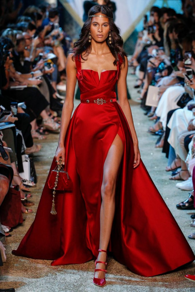 красные платья elie saab