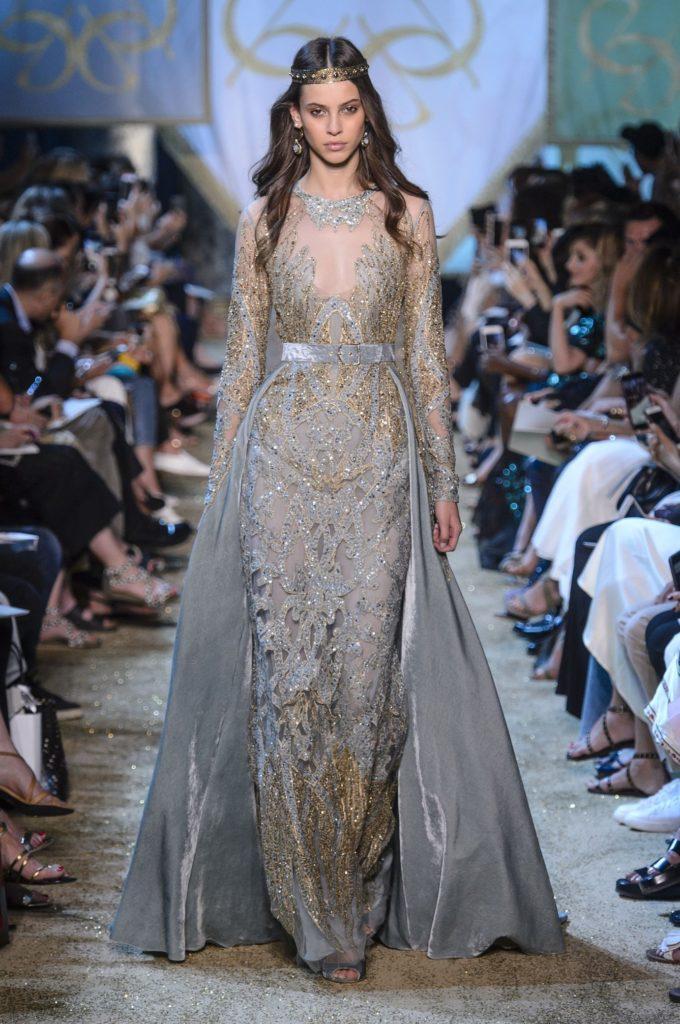 серебряное платье от кутюр