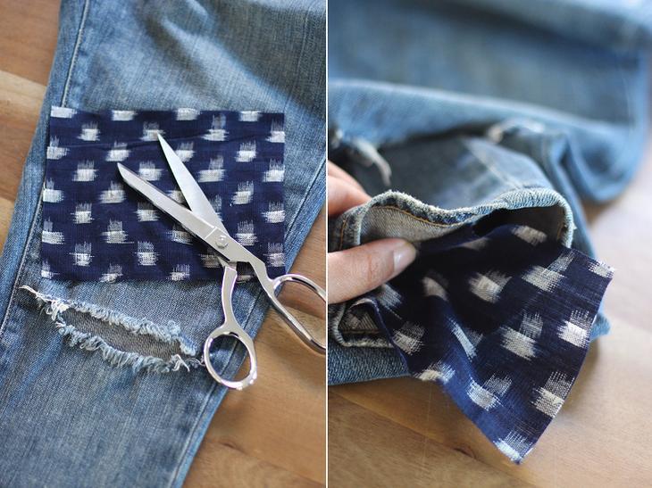 Декоративные заплатки на джинсы своими руками 45