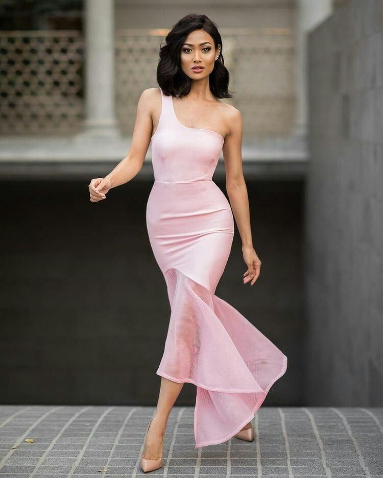 micah gianneli розовое платье