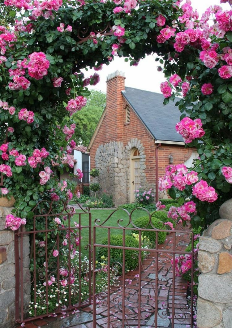 сады с арками из роз