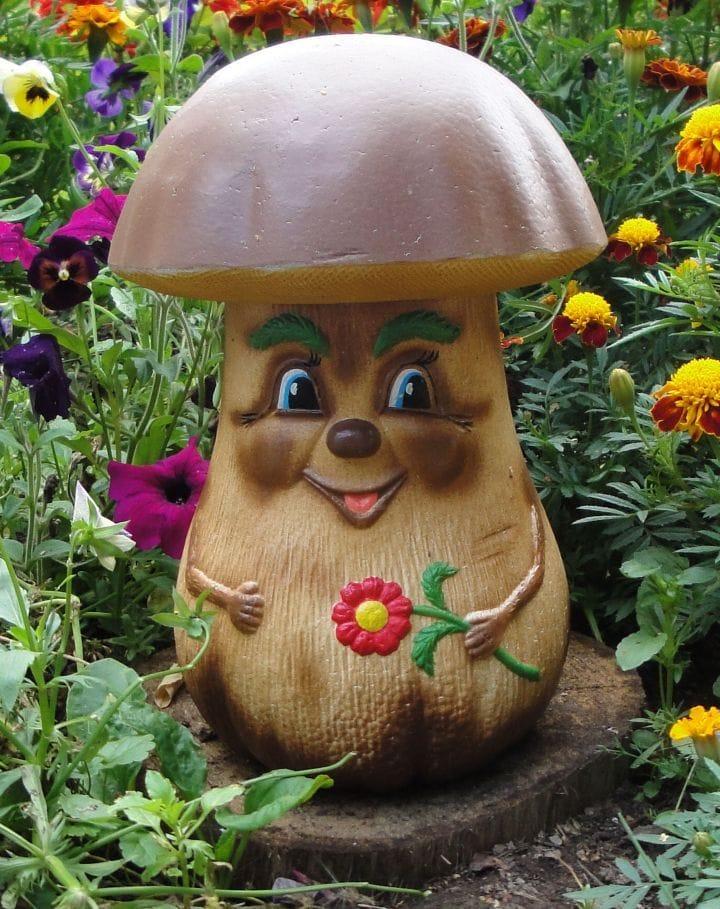 садовая фигура гриб своими руками из папье маше