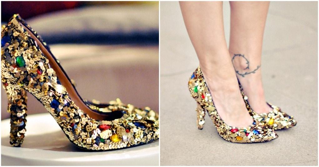 Как сделать блестящими туфли 732