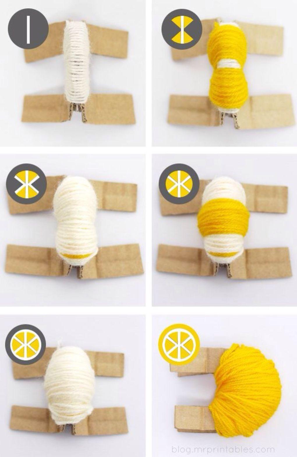 сделать лимонный помпон