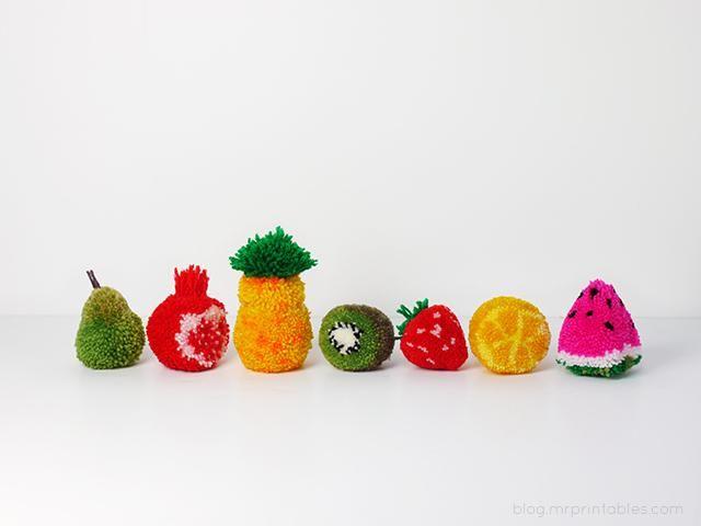 простые фруктовые помпоны
