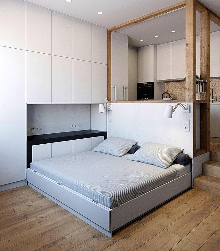 Кровать для однокомнатной квартиры фото выносить