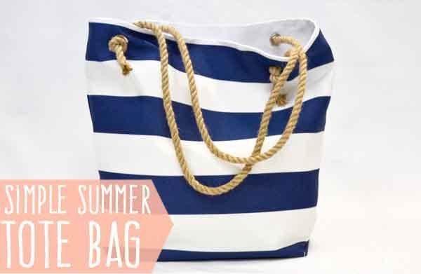 a7324b08dd62 Потребуется совсем немного ткани, терпения и капельку времени, чтобы сшить  пляжную сумку. Очень тематично смотрится полосатая пляжная сумка, однако,  ...