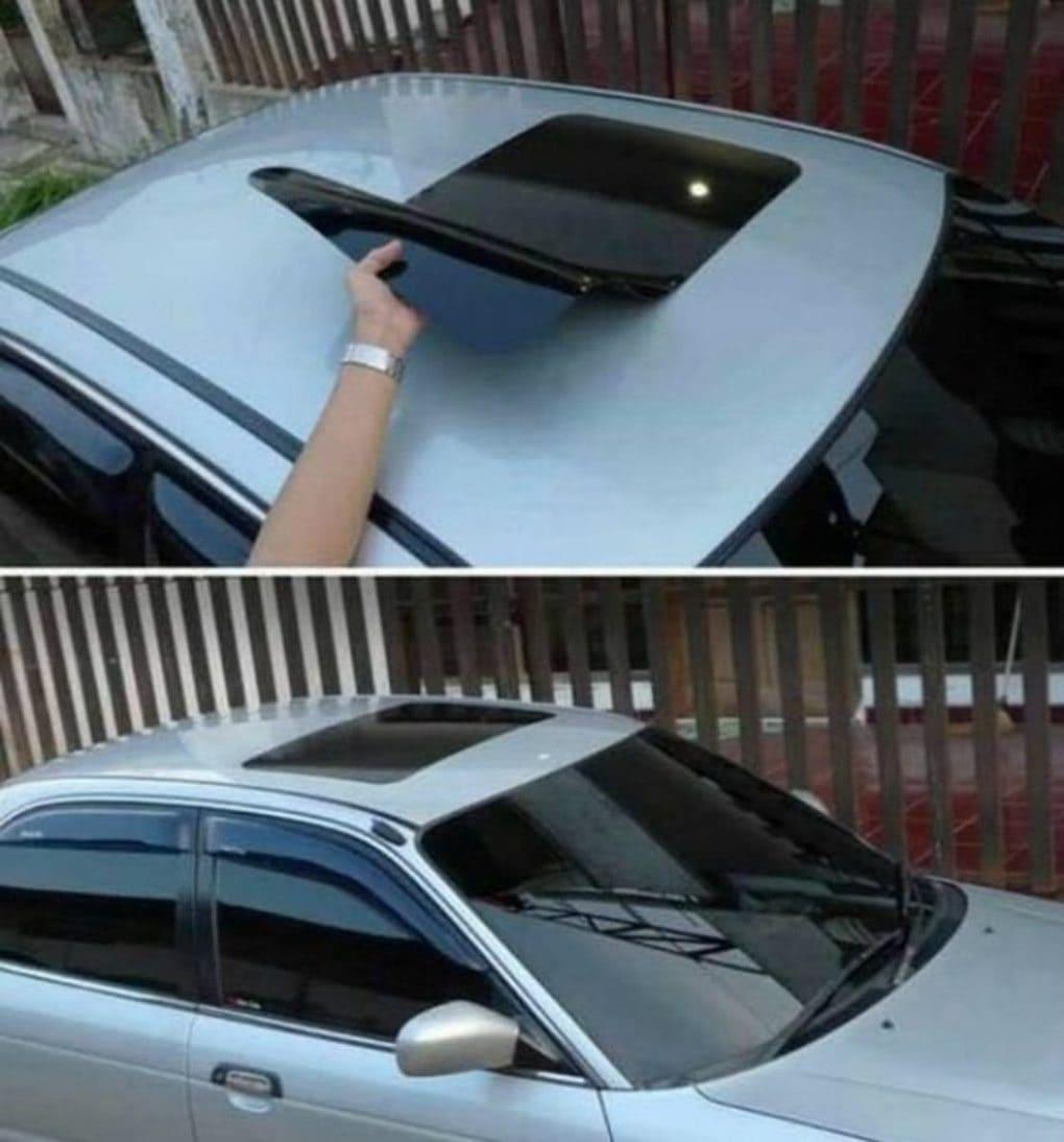 фейковый люк на крыше автомобиля