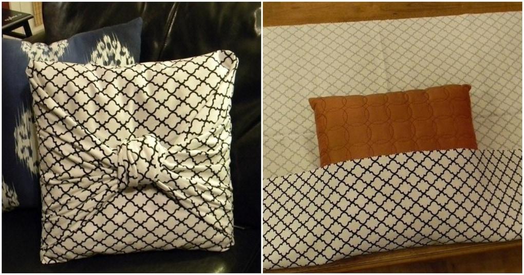 Классная бесшовная наволочка для подушек — идея для тех, кто не очень любит шить в 2019 году
