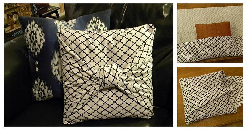 Классная бесшовная наволочка для подушек — идея для тех, кто не очень любит шить
