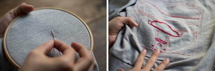 как сделать надпись вышивкой