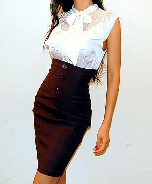 abe413ca7dc Стильная юбка-карандаш с высокой талией — 15+ восхитительных идей