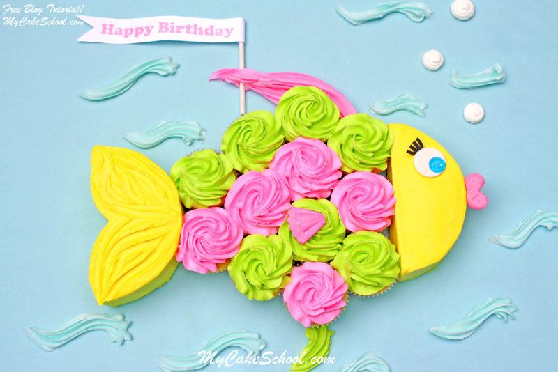Веселый и простой дизайн торта. Идеальный вариант для тематической вечеринки