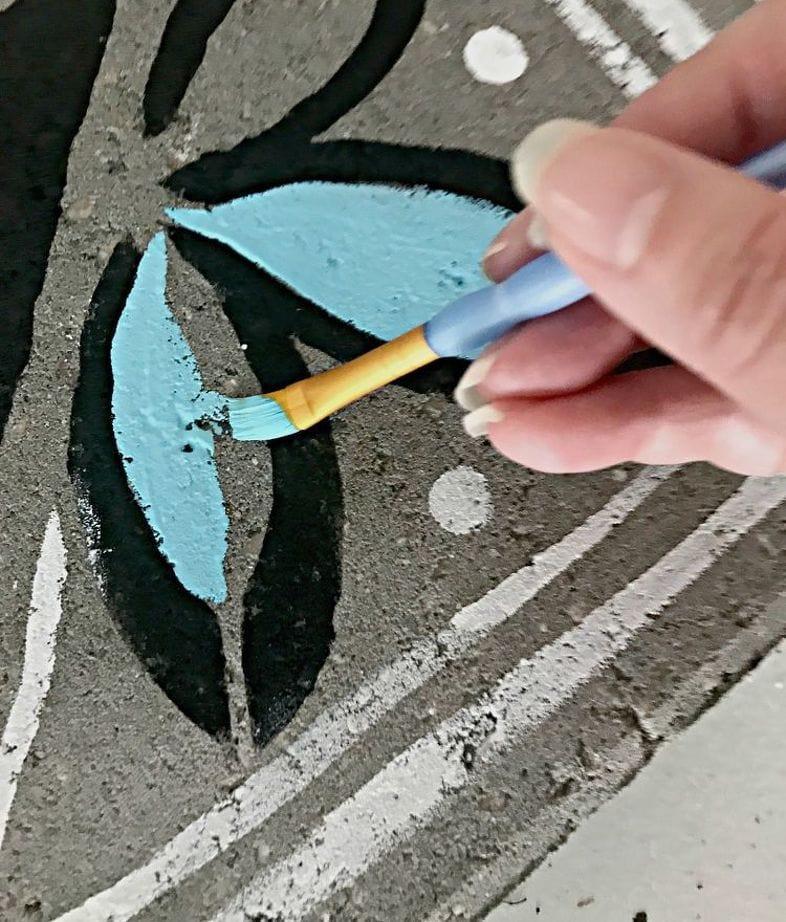 рисунки на бетоне