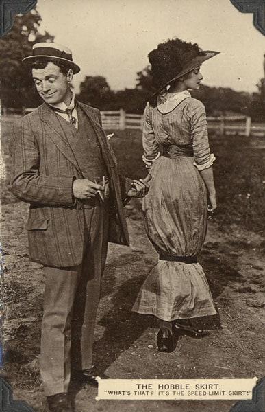 хромая юбка или hobble skirt