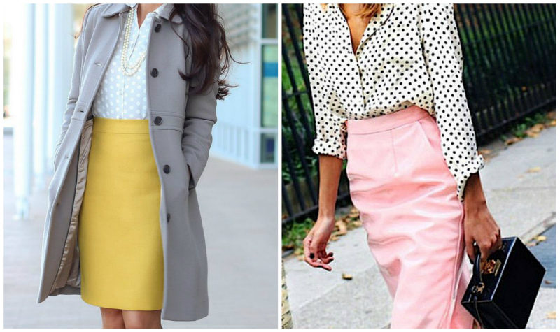 желтая и розовая юбки