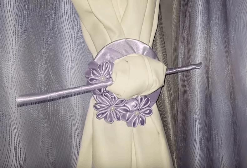 Оригинальные держатели для штор: просто, дешево и со вкусом