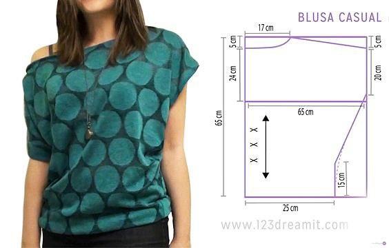 моделирование блузки свободного кроя