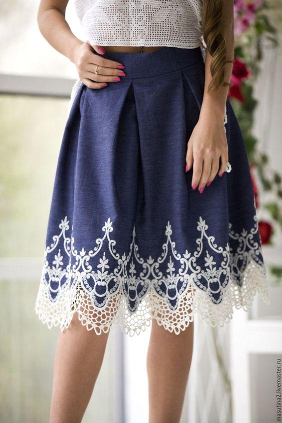 29 идей женственных и стильных юбок, украшенных кружевом