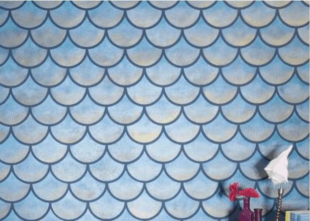 Стильный декор стен с помощью самых простых трафаретов