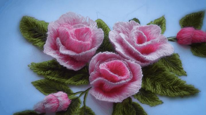 Простая объемная вышивка невероятной красоты