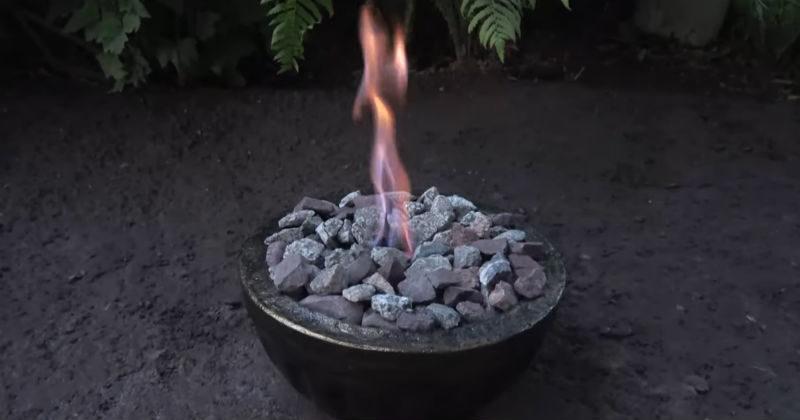 Восхитительный декор для сада — живой огонь своими руками