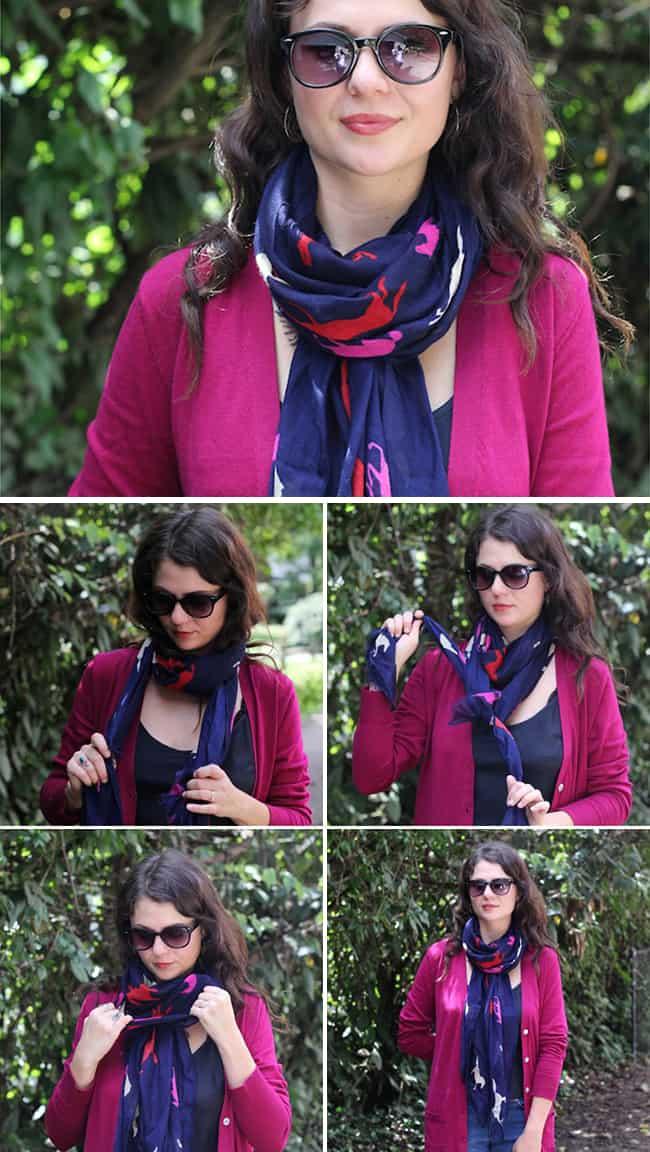 Как завязывать шарф без концов