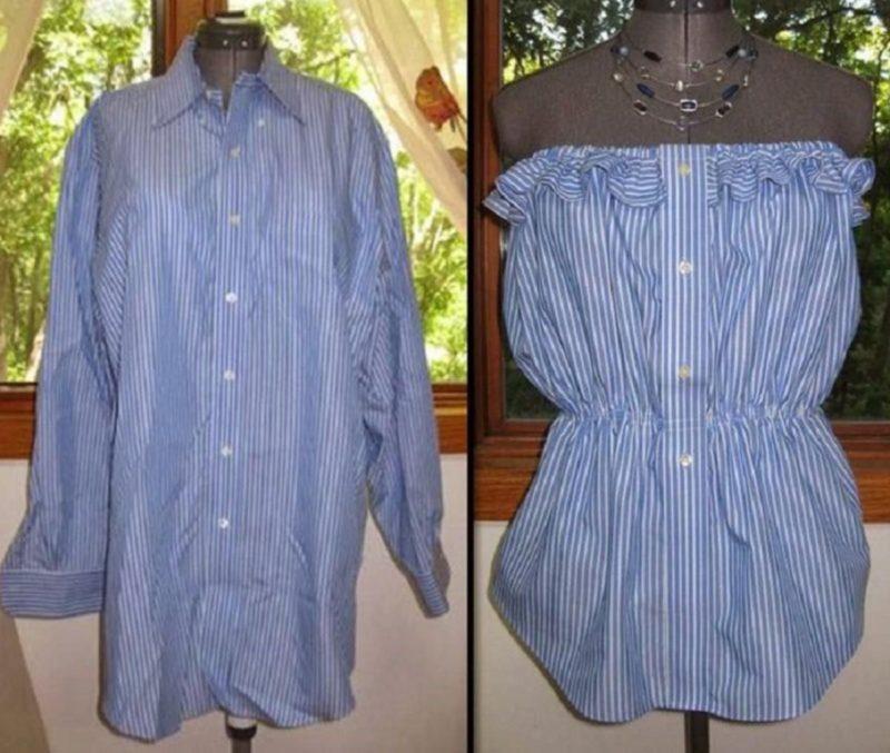 Блузка из мужской рубашки своими руками