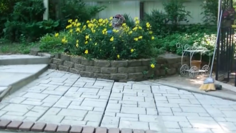 Гениальные и простые тротуарные дорожки из бетона