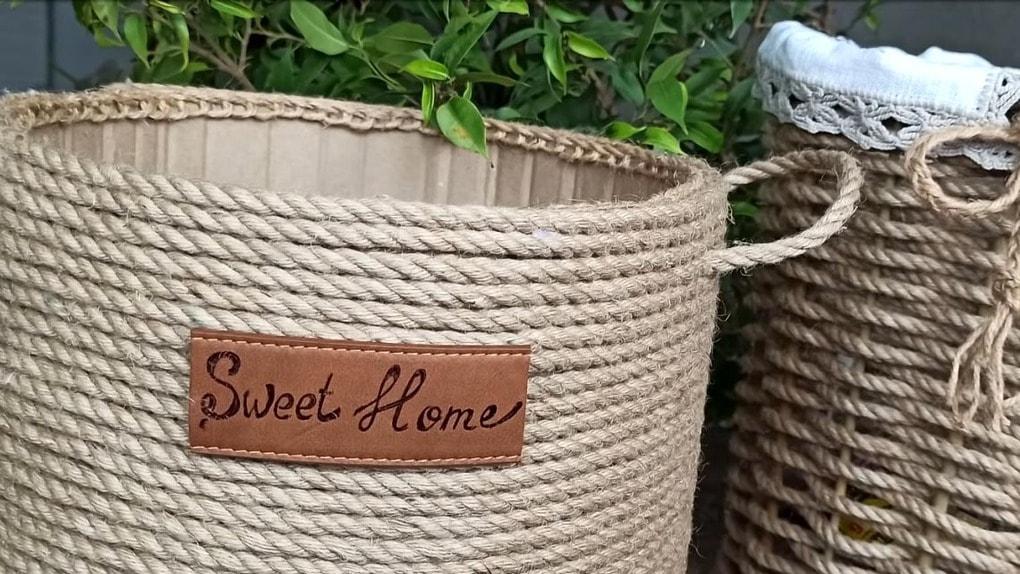 Корзины для хранения из обычной верёвки