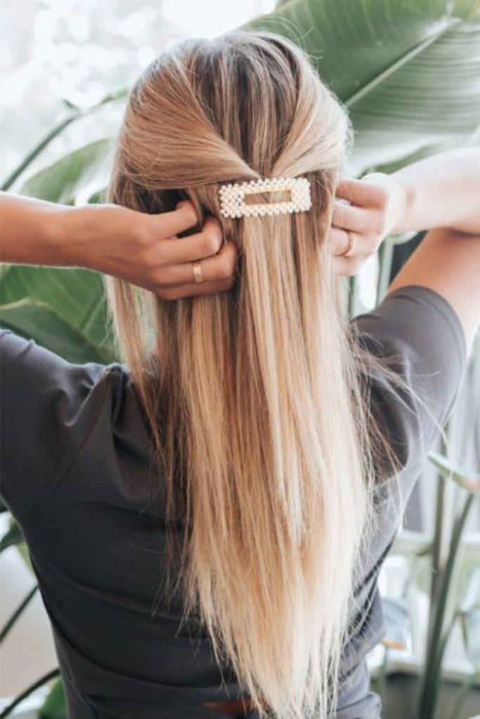 заколка для тонких прямых волос